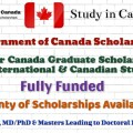 Government of Canada Scholarships