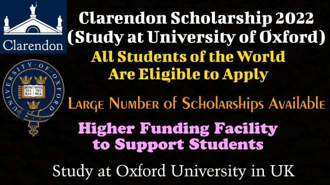 Clarendon Scholarship 2022
