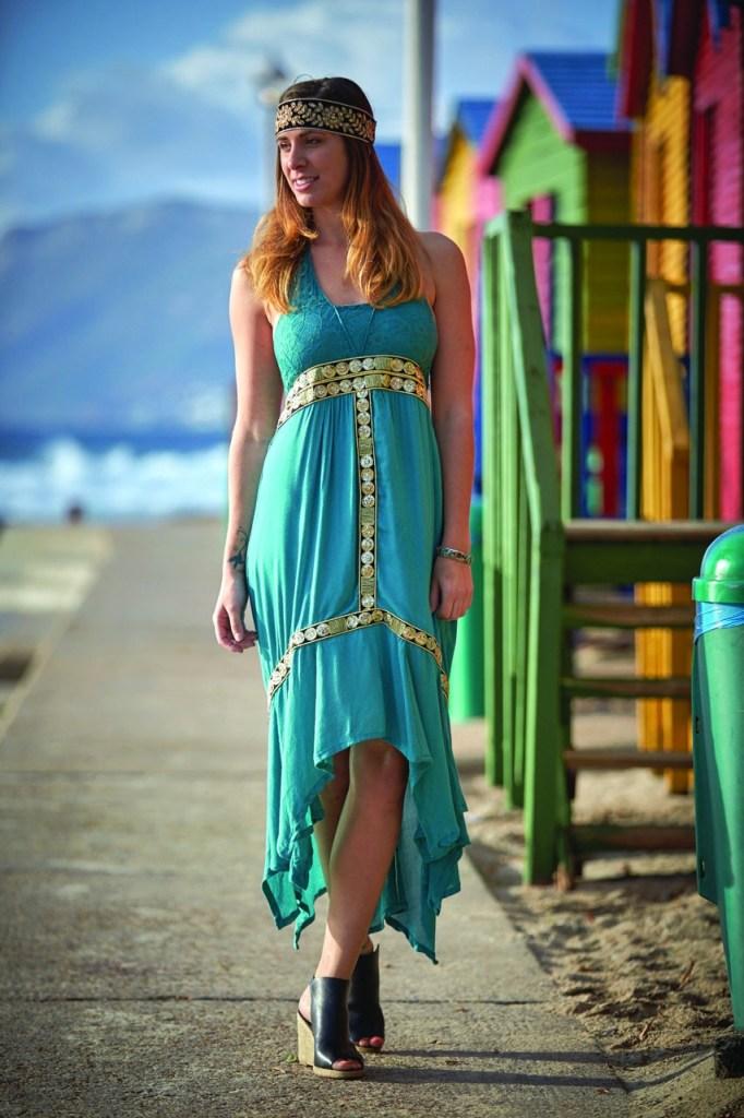 Hippie Halter Maxi Dress