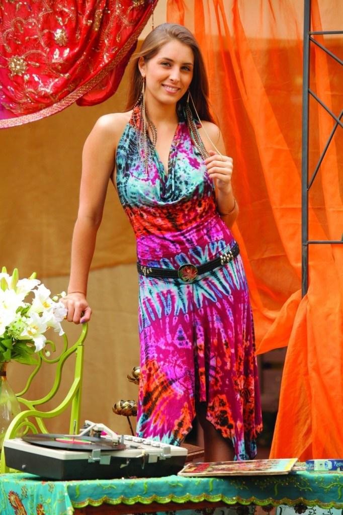Jayli Halter Hippie Dress
