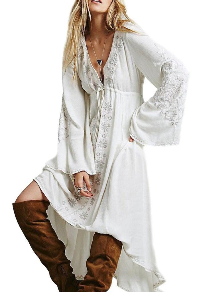 hippie peasant dress