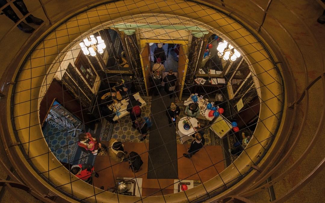 Tag der Offenen Tür im Budde-Haus; FAIRbund e. V. stellt Komzept vor; Foto: Andreas Reichelt