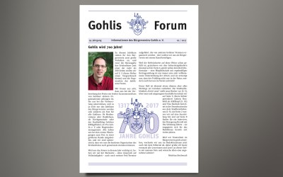 Gohlis Forum 2/2017 erschienen