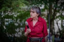 Ursula Hein eröffnet das Sommerfest 2ß18 des Bürgervereins Gohlis e. V.; Foto: Andreas Reichelt