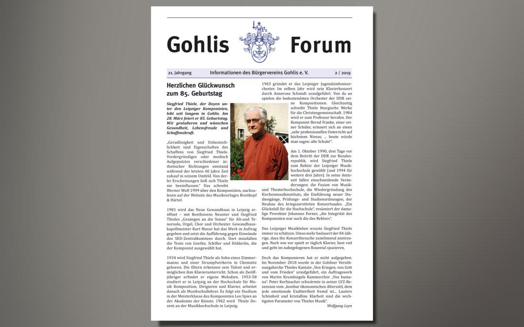 Gohlis Forum 2/2019å