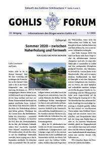 Gohlis Forum 5/2020; Layout: Reichelt Kommunikationsberatung