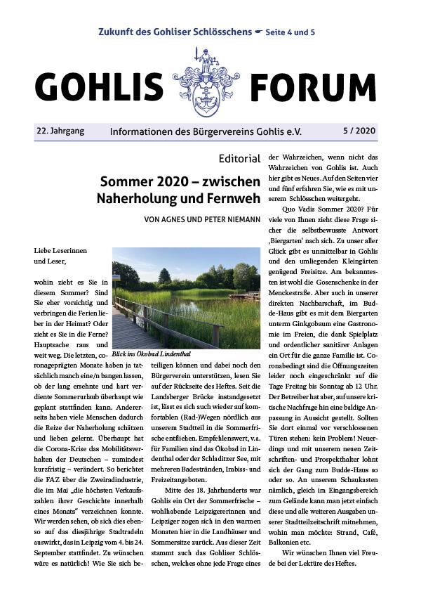 Gohlis Forum 05/2020