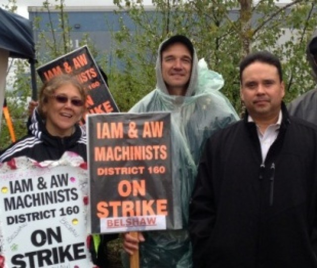 Western Territory General Vice President Gary Allen Right Joined Striking Local 79 Members Who