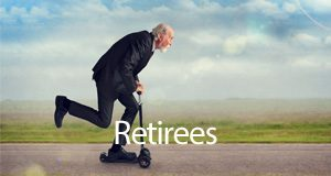 Link to information about retiree resources, volunteer opportunities, clubs and classes