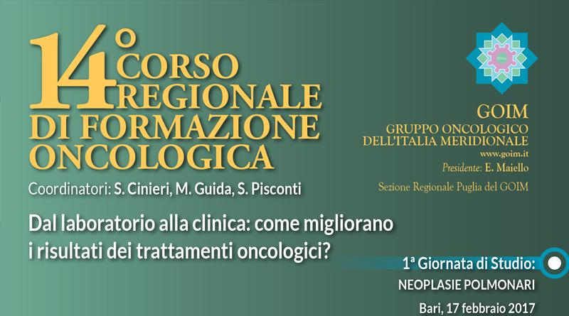 14° Corso Regionale di Formazione Oncologica