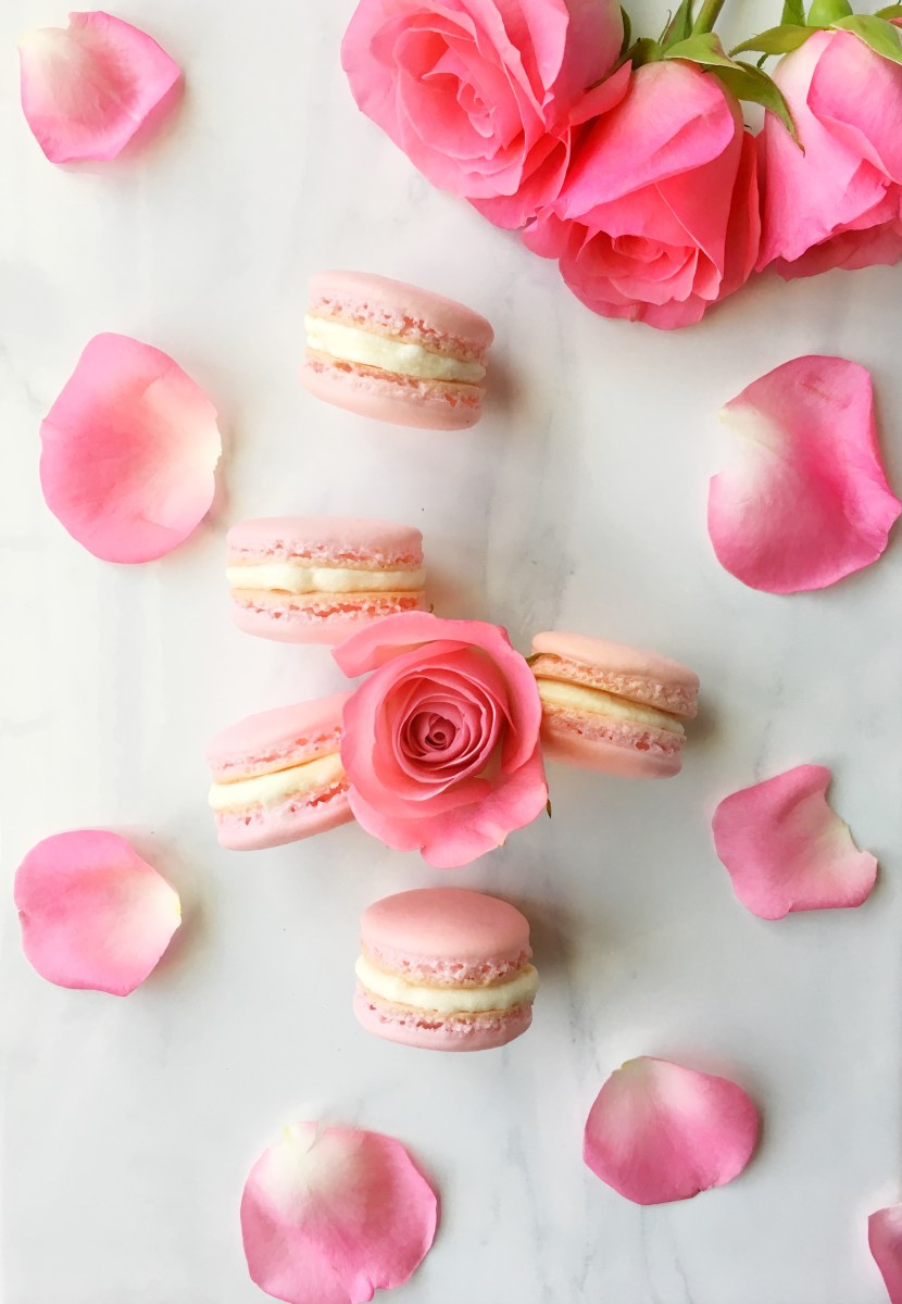 Almond Cherry French Macarons