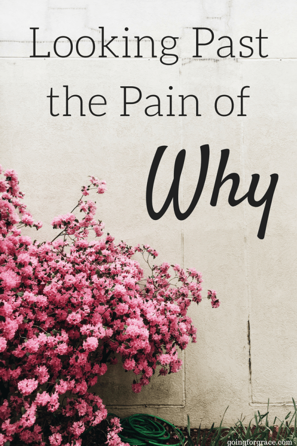 How to look past the pain of Why in tragic situations. Bible versus on how God changes bad into good.