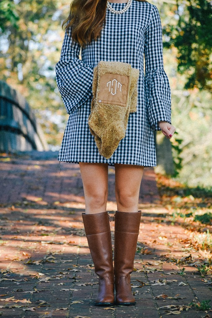 Gingham Bell Sleeve Dress & A Giveaway