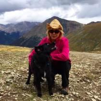 Standing with Mom on Cinnamon Pass, Alpine Loop, CO.