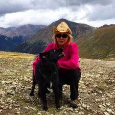 Standing with Mom on Cinnamon Pass, Alpine Loop, CO.
