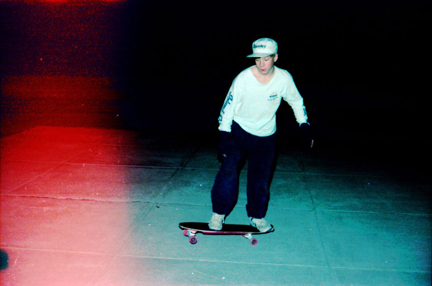Brian, night skating.
