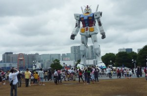 The citizens of Japan paying tribute to Gundam