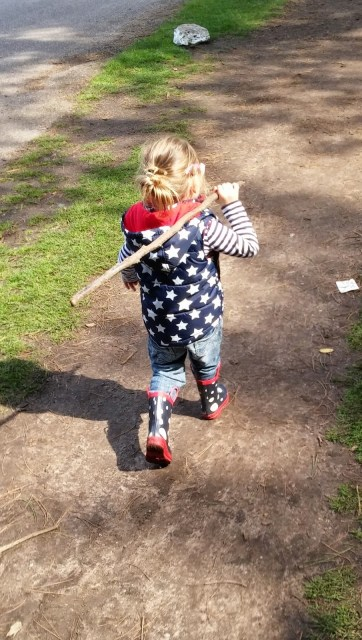 Nature Misses You - child carrying stick