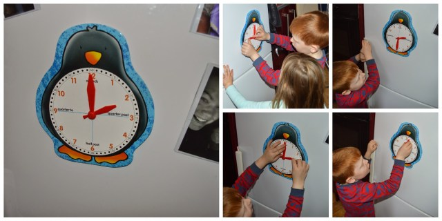 Orchard Toys Penguin Clock - learn to tell the time