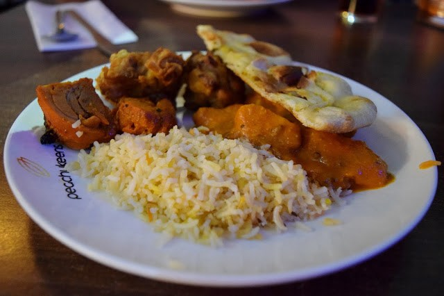 Indian food at Peachy Keens - The Printworks