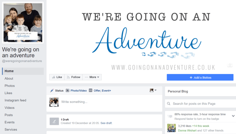 Blog Goals - Facebook Jan 17