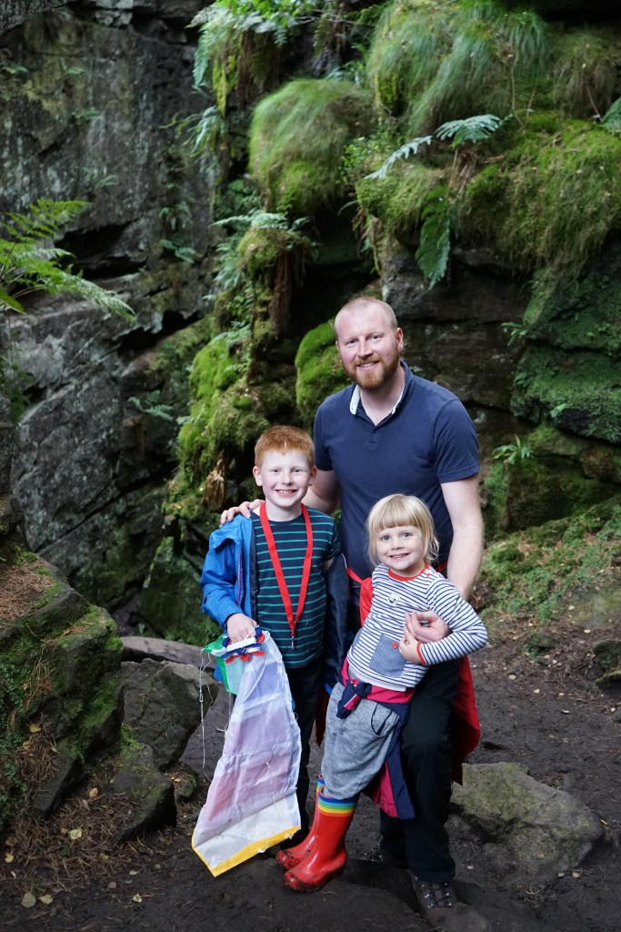 Dave, Ben and Amy on their hike in the Peak District