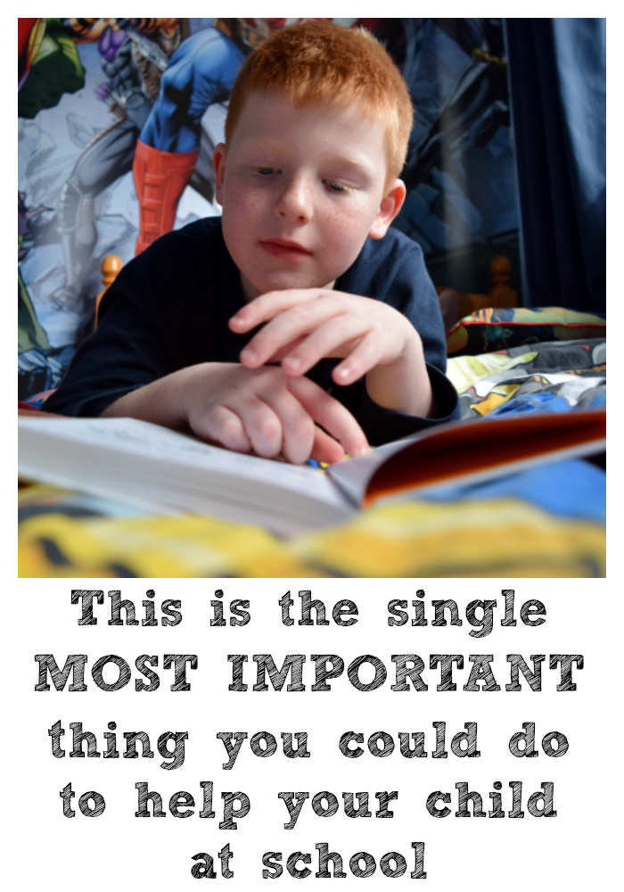Reading with your child is the single most important thing you can do to help you child at school.