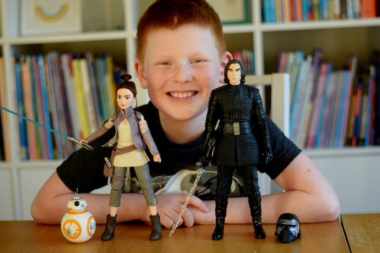 Star Wars Forces of Destiny Rey of Jakku and BB-8 with Interactech Kylo Ren