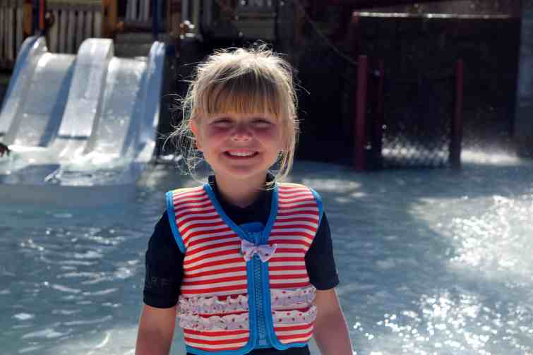 Siam Park provide free life jackets for little ones, we took our Konfidence one instead
