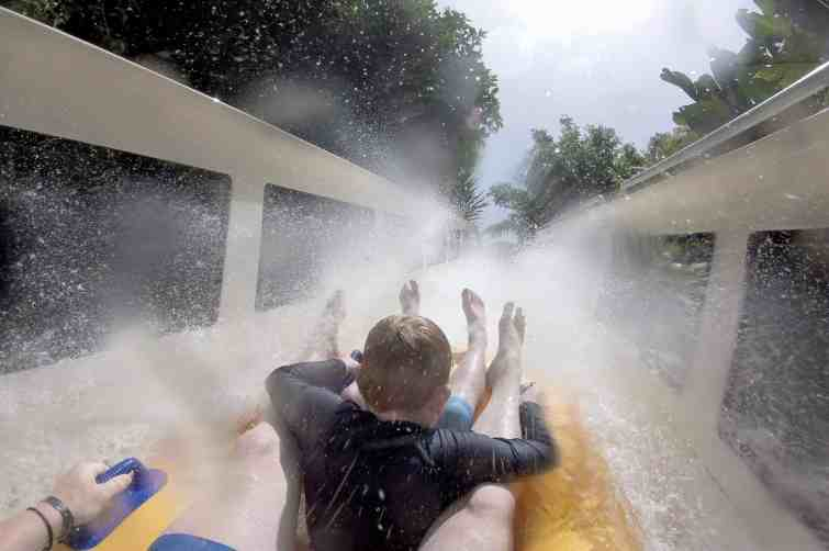 Siam Park water slides for thrill seekers
