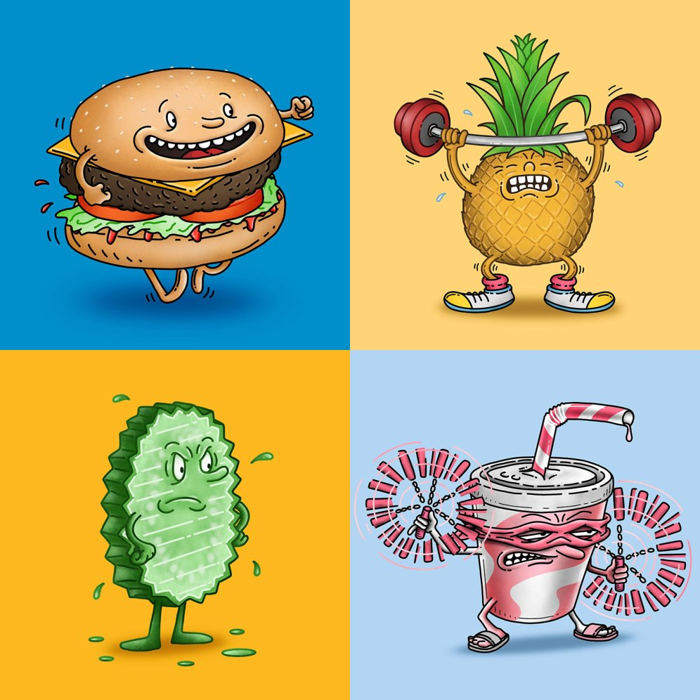 Food characters 1