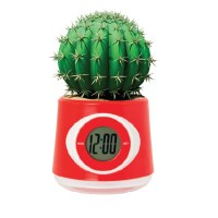 reloj de oficina con planta