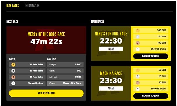 Hoe Races spelen bij Rizk Casino
