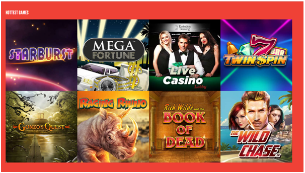 Rizk Casino Games om te spelen