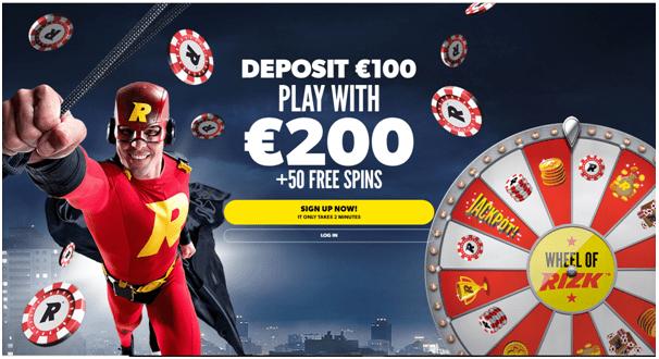 Rizk Casino online om slots en casinospellen te spelen