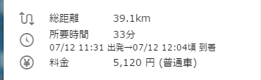 羽田空港から友理 所要時間