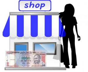 A lady buys goods worth Rs.200 from a shop