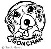 版画調ペットお顔ロゴ