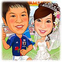 サッカー日本代表似顔絵ウェルカムボード