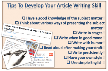 article writing tips to improve your skill in writing articles