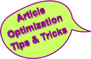 article optimization