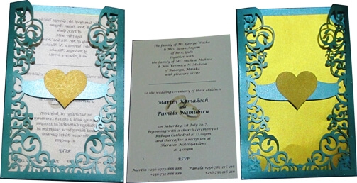 Low-cost Wedding Card Designs