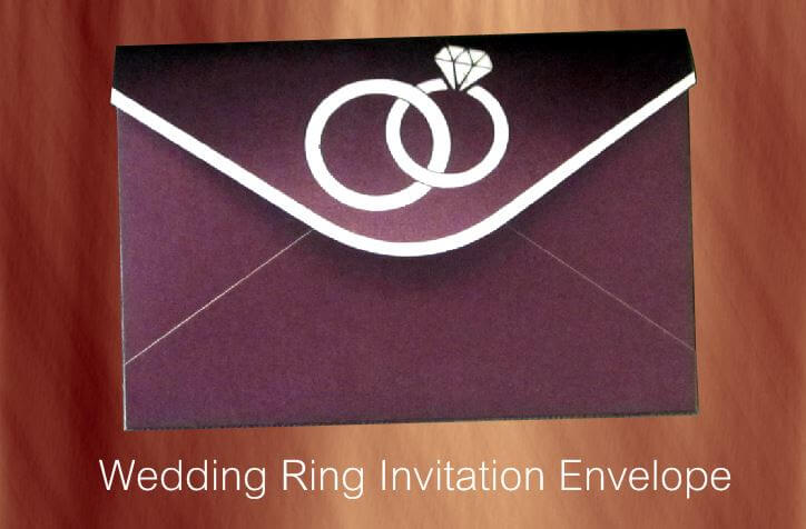 Wedding Ring Invitation Card Envelopes
