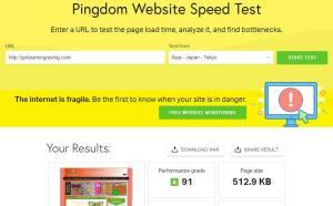 Pingdom Website Speed Tester