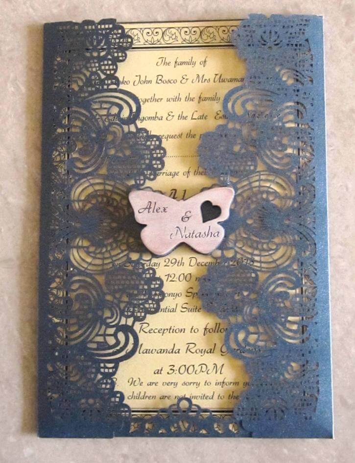 Mesh Design Wedding Invitation