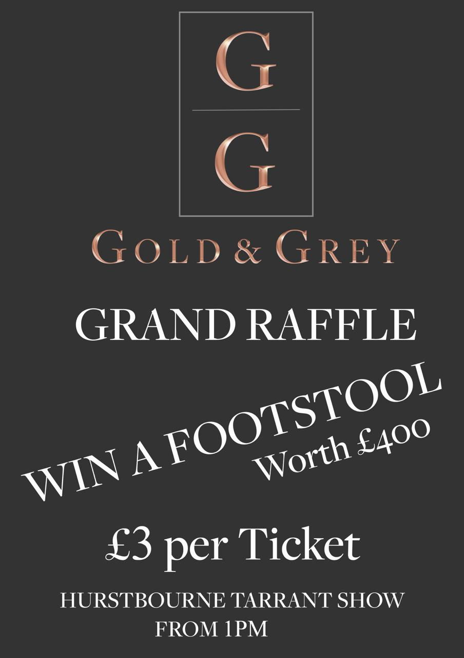 Gold & Grey UK Interior Design Upholstery Footstool Raffle