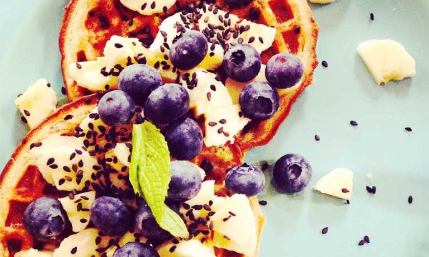 Vegan Chia & Flax Seed Waffles