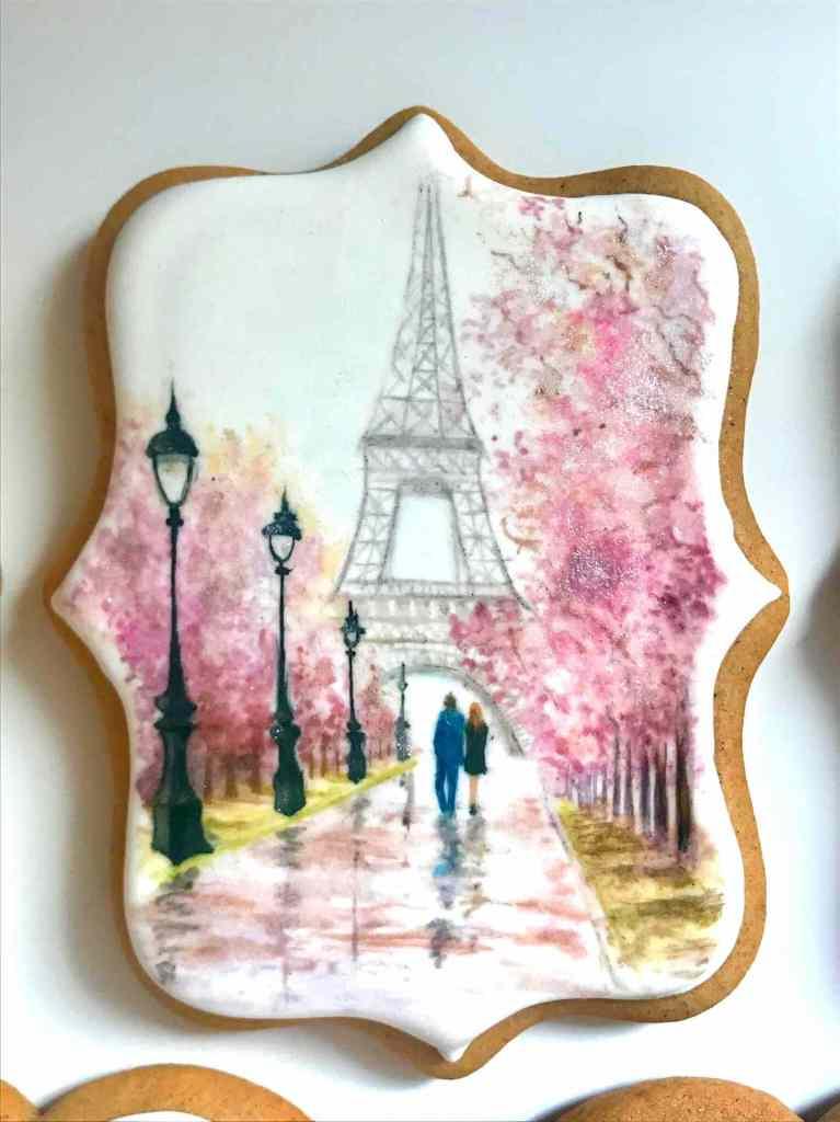 Der Eiffelturm auf einem Keks
