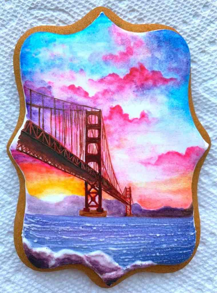 Die Golden Gate Bridge auf einem Keks