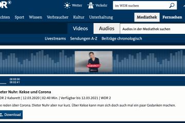 Dieter Nuhr: Corona und Kekse